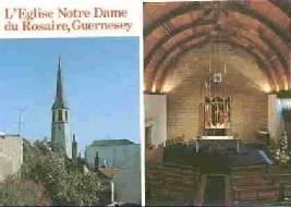 A postcard of Notre Dame du Rosaire.