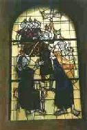 A stained-glass window.